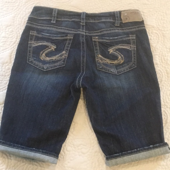 Silver Jeans Suki Mid Denim Bermuda Shorts W30